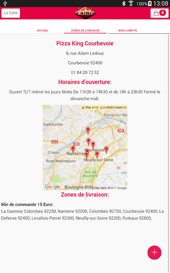 Pizza King Courbevoie- screenshot