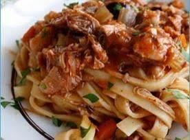 Spaghetti In Rabbit Liver Sauce Recipe