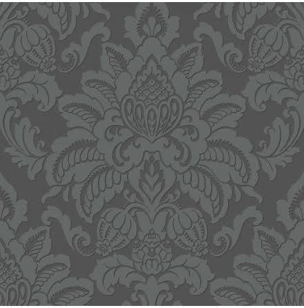 Arthouse Precious Metals Tapet med glittrande damaskmönster ART075 - Mörkgrå