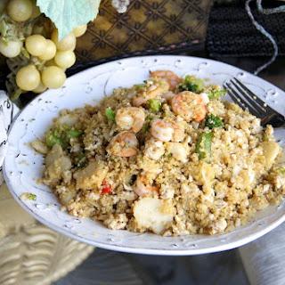 Skinny Shrimp and Turkey Quinoa Stir Fry.