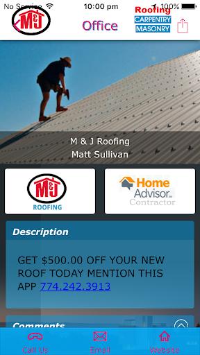 玩免費遊戲APP|下載M and J Roofing app不用錢|硬是要APP