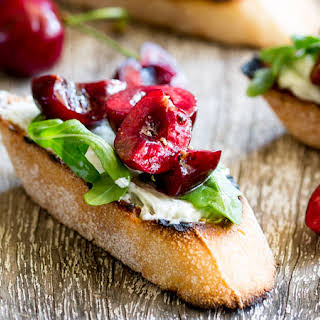 Blue Cheese Bruschetta with Cherry Salsa.