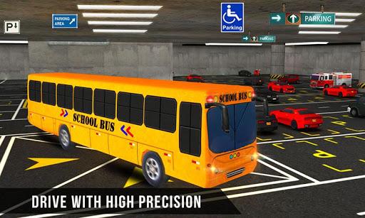マルチ階建てのスクールバス駐車場