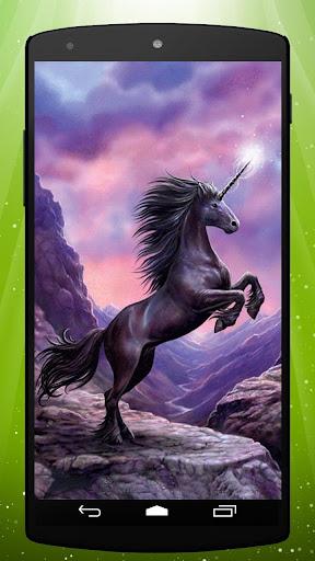 Black Unicorn Live Wallpaper