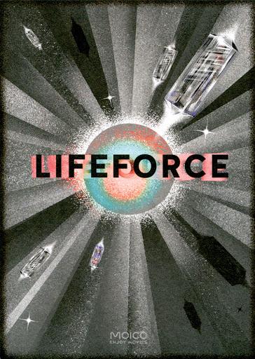 Przód ulotki filmu 'Lifeforce'