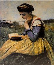 "Photo: Jean-Baptiste-Camille Corot, ""Donnache legge"" (1869)"