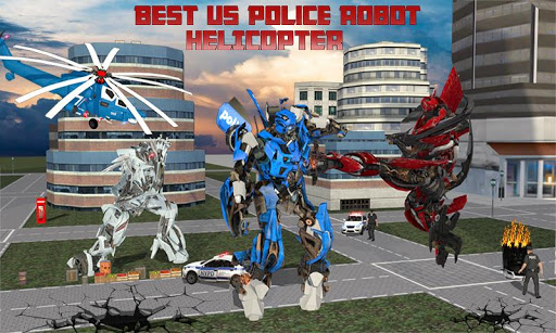 USA Police Robot Helicopter: Air Robot Car Battle  urgencyclopedie.info 1
