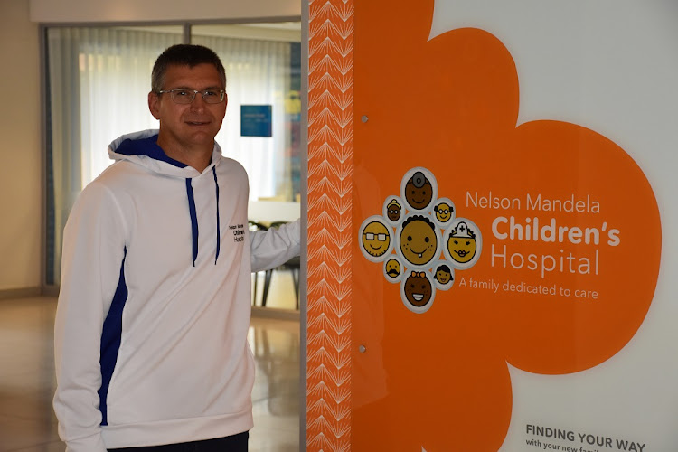 David Barnard at the Nelson Mandela Children's Hospital.