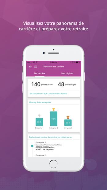 Smart' Retraite Android App Screenshot