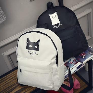 黑白貓系列背包