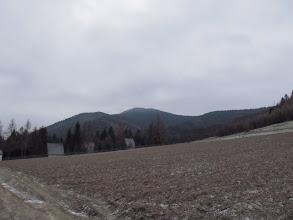 Photo: 2.Na wprost Szczebel (977 m n.p.m.). Dalej niestety się błaźnimy - ja mam w plecaku kompas, przewodnik i mapę. Piotrek - włączony GPS, ale zamiast korzystać ze sprzętu i uważać na znaki gadamy i smarujemy pierwszą lepszą leśną drogą. Po przejściu chyba kilometra orientuję się, że coś tu nie gra - droga wprawdzie idzie dalej, ale szlaku na niej nie uświadczysz. Rozglądamy się w prawo, w lewo, wracamy kawałek, wreszcie Piotrek wyciąga swoją maszynerię i po paru sekundach już wiemy, że wpadliśmy jak g...no w wentylator - do szlaku mamy ho ho jak daleko, tak że powrót z manowców zajmuje nam dobre 15-20 minut.
