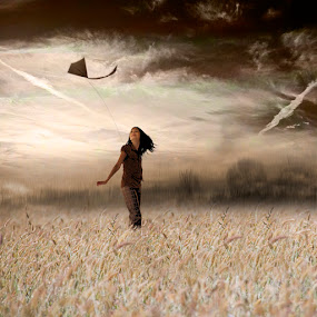 chasing the wind by Yolita Yo - Digital Art Places