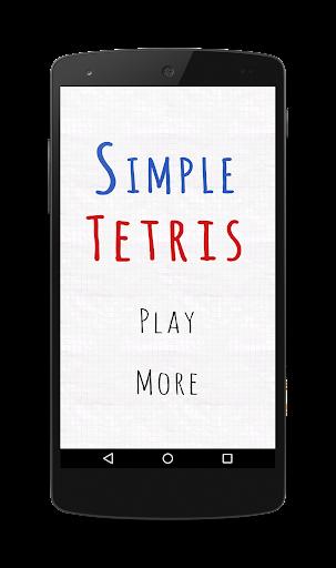 Simple game of Tetris