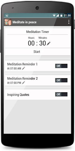 Meditate Peacefully Timer Bell