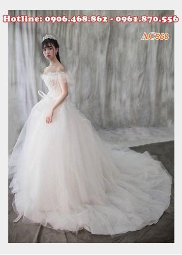 Áo cưới tiểu thư yêu kiều AC568