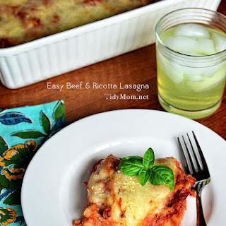 Easy Beef & Ricotta Lasagna