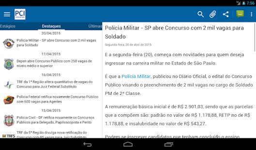 PCI Concursos - screenshot thumbnail