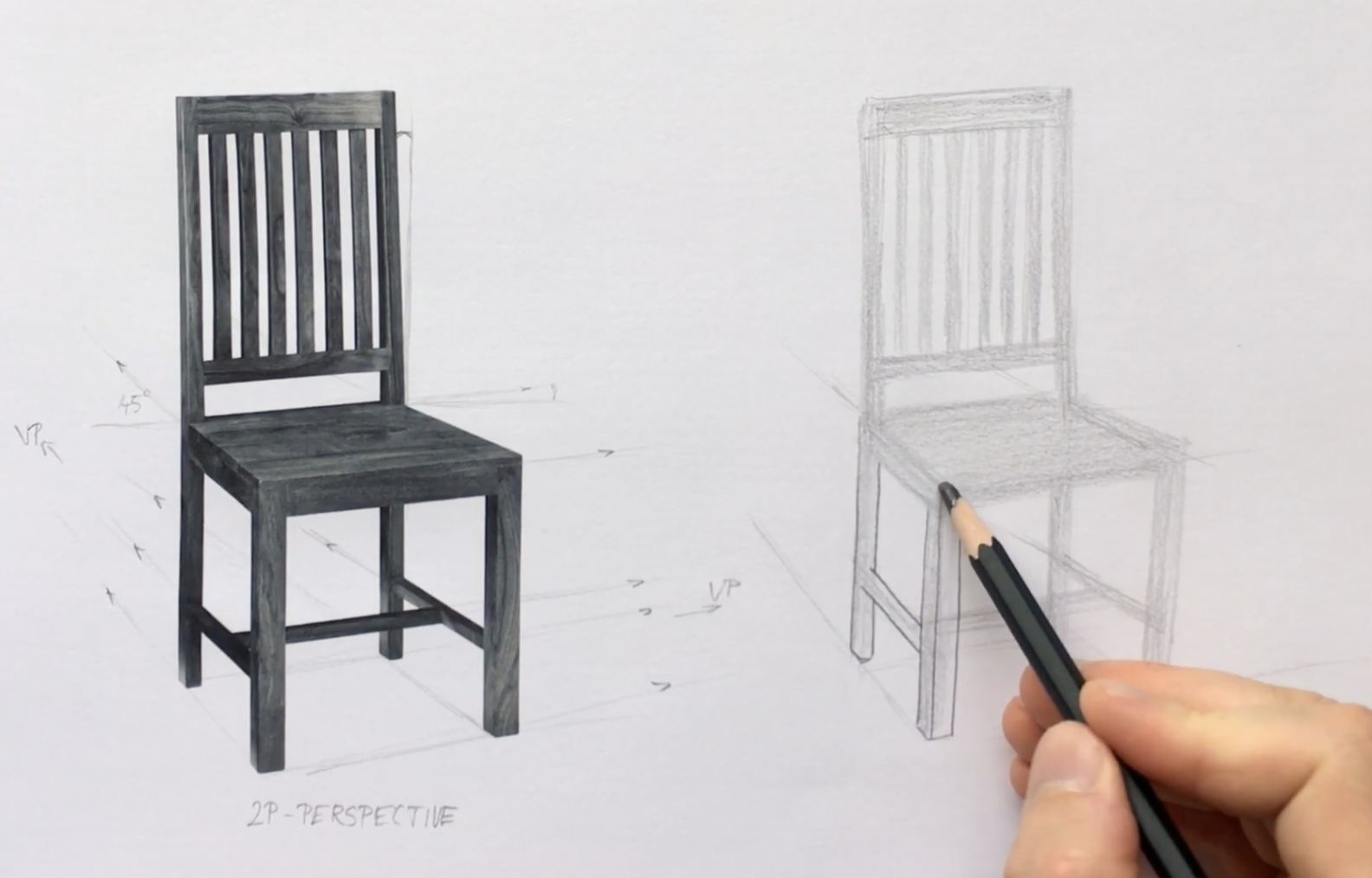 chair drawing ideas for beginners