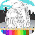Sports Cars Racing Coloring icon