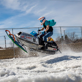 Low Level Flight by Kenton Knutson - Sports & Fitness Motorsports ( racing, snow, vintage, snowmobile )