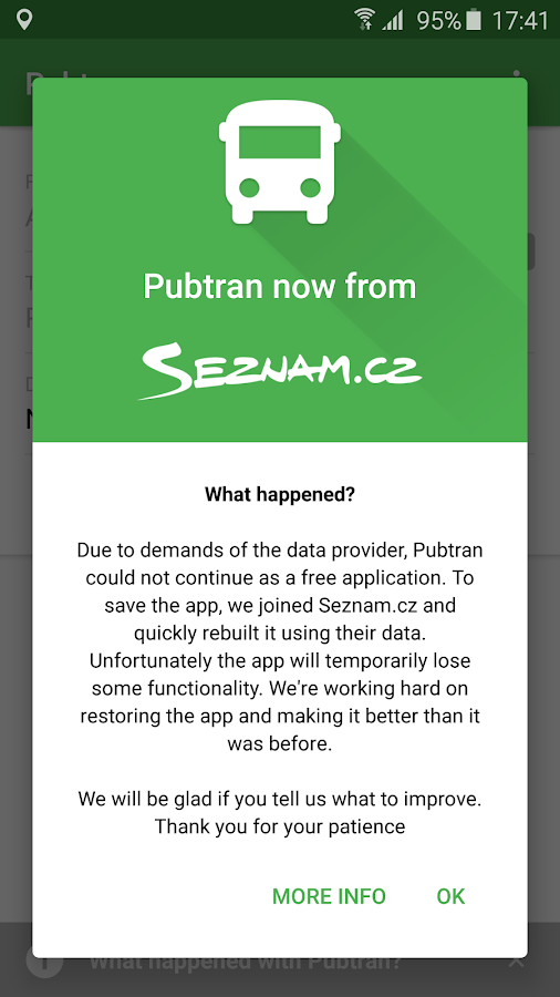Pubtran- screenshot