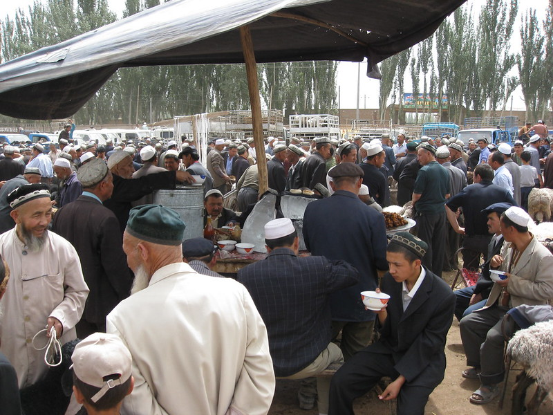 A photo of Uyghur Muslims in Kashgar Prefecture, Xinjiang Province in 2008. The persecution of the Uyghur ethnic minority by the Chinese Communist Party has annihilated their way of life