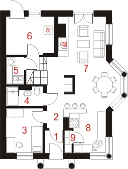 Dom przy Sielskiej 2 - Rzut parteru