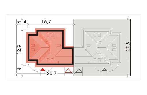 Akacja II bliźniak wersja B segment - Sytuacja