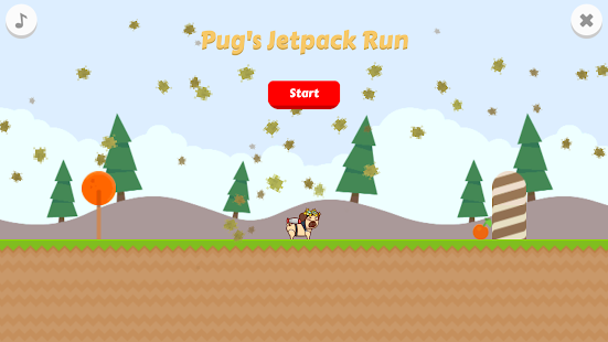Pug's Jetpack Run - náhled
