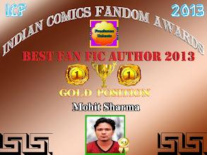 Photo: Best Fan fic Author - Indian Comics Fandom Awards 2013
