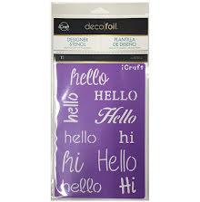 Thermoweb Deco Foil Stencils 6X9 - Hello