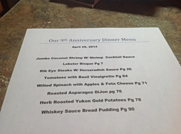 This is my menu for Our dinner. I hope to post ALL of the...