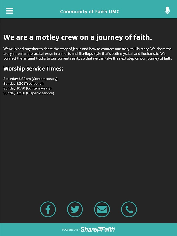 CommunityOfFaith UMC Davenport- screenshot