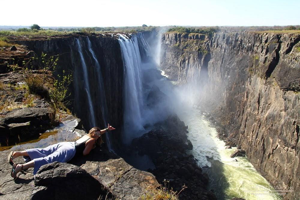 Visitar as CATARATAS DE VITÓRIA - Passeio de helicóptero e visita à Piscina do Diabo | Zâmbia e Zimbábue