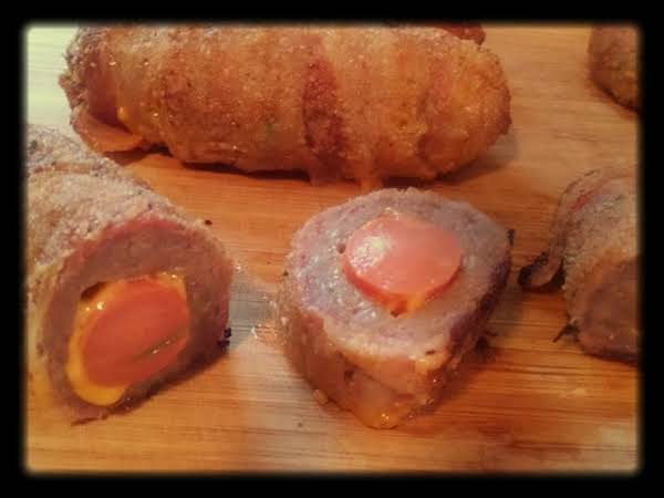 Bacon And Sausage Wrapped Hot Dogs