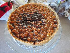 Photo: Caramel Chocolate Macadamia nut Pie