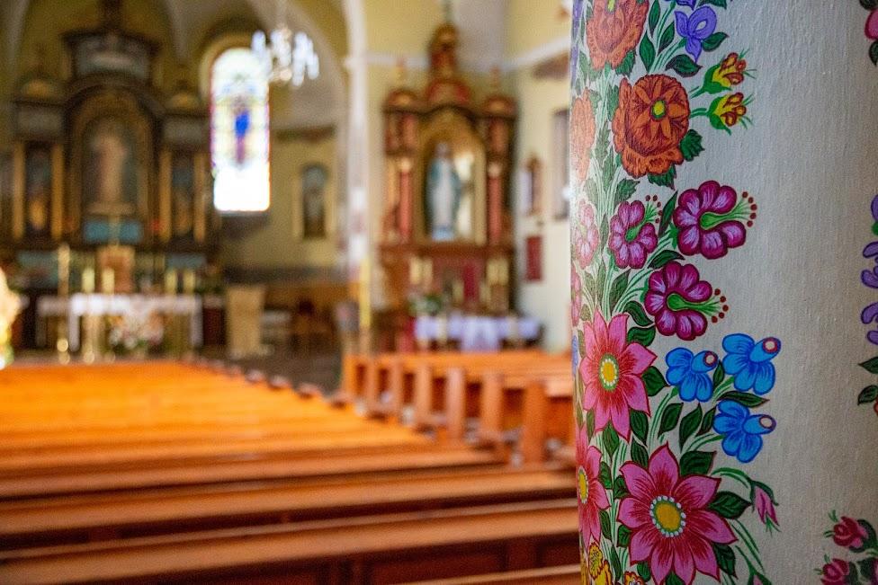 Zalipie, kościół, wnętrze