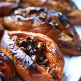 Sweet Potatoes with Pecan Syrup (gluten free, dairy free, paleo, soy free, vegan).