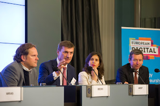 Photo: Andrus Ansip, vice-president of the European Commission for the digital single market, delivers concluding remarks
