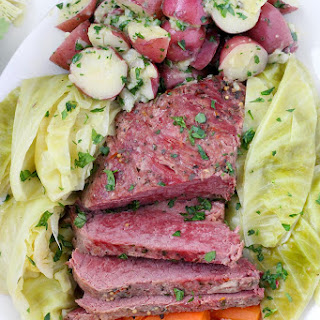 Instant Pot Corned Beef with Cabbage, Carrots, and Buttered Potatoes Recipe