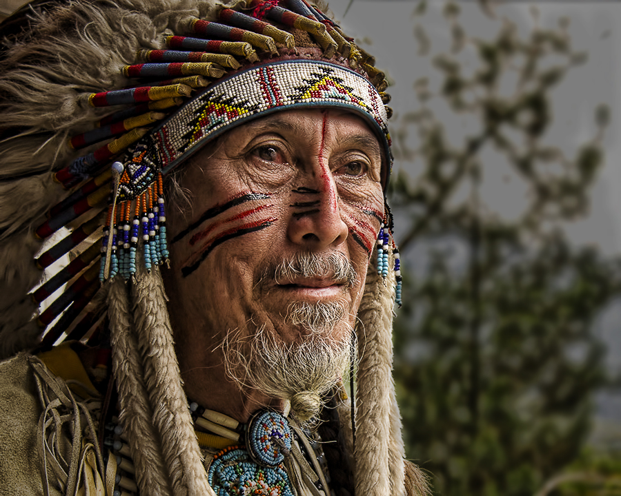 Old Winnetou by Stephan Edwards - People Portraits of Men ( senior citizen )