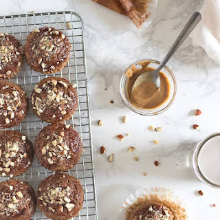 Almond Butter & Guava Jelly Banana Muffins.