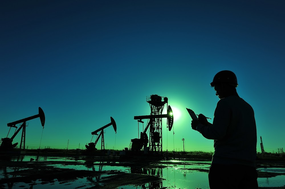 Oil prices are down on the day but up for the week