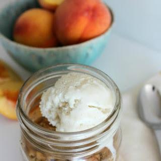 Fresh Peach Crisp in a Jar
