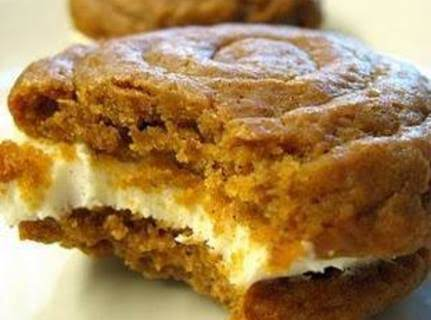 ~pumpkin Whoopie Pies With Cream Cheese Filling~
