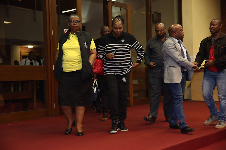 ANC members react to the news that a court challenge to stop the party's KwaZulu-Natal elective conference conference was granted in the Pietermartizburg High court. Picture: JACKIE CLAUSEN