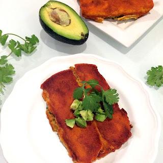 Vegan Pinto Bean & Swiss Chard Enchiladas