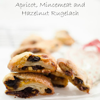 Apricot, Mincemeat and Hazelnut Rugelach