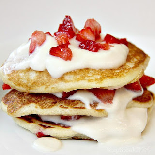 3 Layer Strawberry Pancakes
