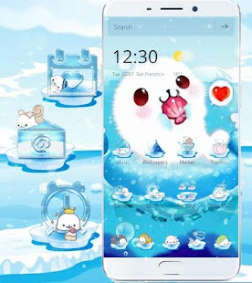 Aquarium Sea Seals Theme Wallpaper- screenshot thumbnail